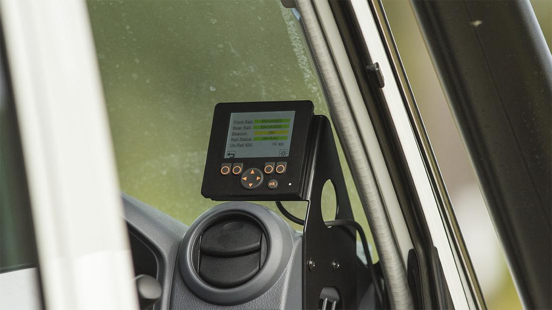 Hyrail control screen