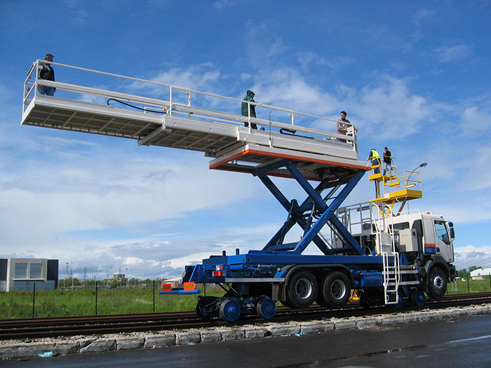 Aries Hyrail truck mounted scissor type elevated work platform