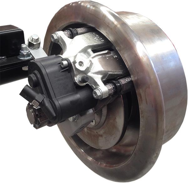 Road-rail brakes