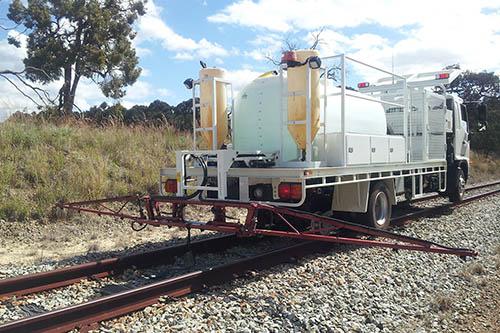 Narrow gauge road-rail Hyrail truck