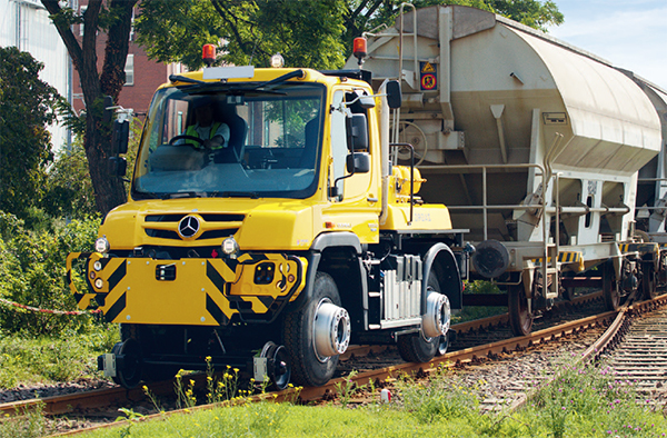 Aries Hyrail Unimog shunting vehicle