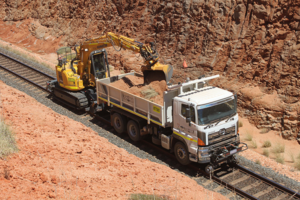 Aries Hyrail road-rail vehicle.