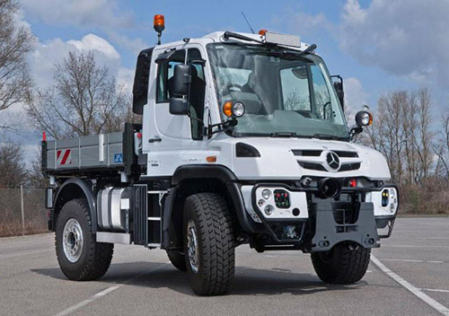 Mercedes Unimog rail shunting equipment