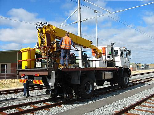 Road-Rail EWP truck