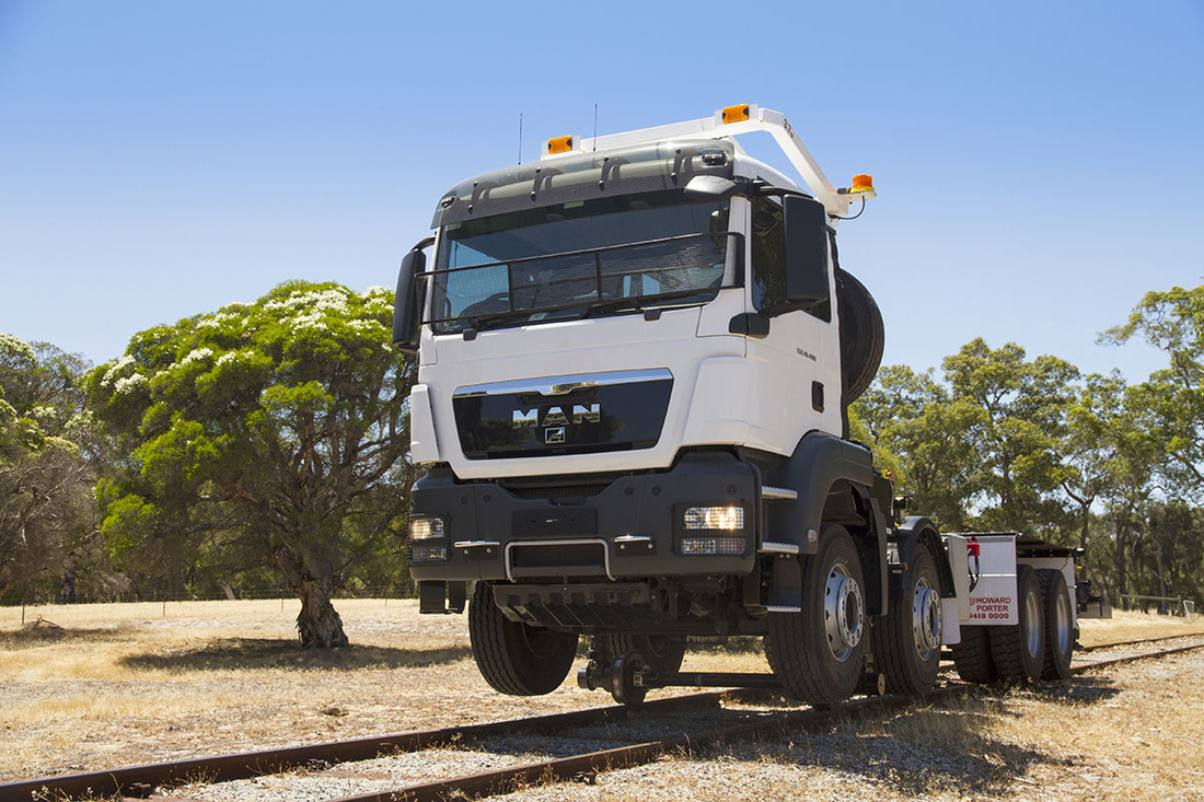 MAN 8x4 Truck hyrail conversion