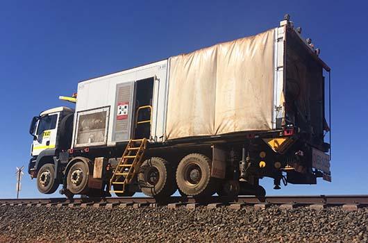 Aries Hyrail Road Rail mobile flashbutt welder